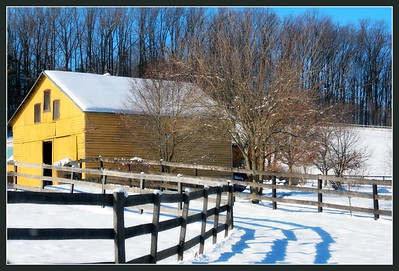 """December 29, 2013 """"Y"""" is for Yellow Barn"""