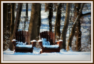 """December 17, 2013  The first Adirondack chair was designed by Thomas Lee while vacationing in Westport, New York, in the Adirondack Mountains in 1903. Needing outdoor chairs for his summer home, he tested his early efforts on his family. After arriving at a final design for a """"Westport plank chair,"""" he offered it to a carpenter friend in Westport in need of a winter income, Harry Bunnell.  Bunnell saw the commercial potential of such an item being offered to Westport's summer residents, and apparently without asking Lee's permission filed for and received U.S. patent #794,777 in 1905. Bunnell manufactured hemlock plank """"Westport chairs"""" for the next twenty years, painted in green or medium dark brown, and individually signed by him.  info: wikipedia.org"""