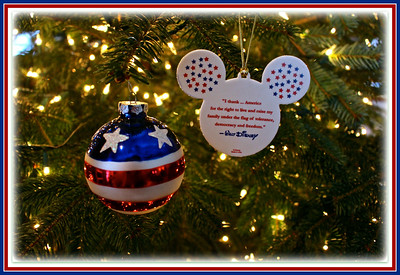"""December 15, 2013  """"W"""" is for """"Walt Disney"""" and his quote,  """"I thank…America for the right to live and raise my family under the flag of tolerance, democracy and freedom."""""""