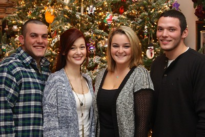 December 26, 2014  Had a nice Christmas with these four.  Hope your Christmas was as wonderful.