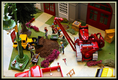 December 18, 2014  Another scene from the train garden.  Jeff has detailed scenes like this all over the display.  I could literally photograph for hours and not get everything.