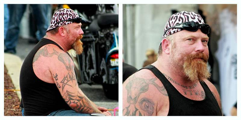 September 18, 2014<br /> <br /> I bet he's a Big 'Ole Teddy Bear, what do you think???<br /> Bike Week, Ocean City, MD