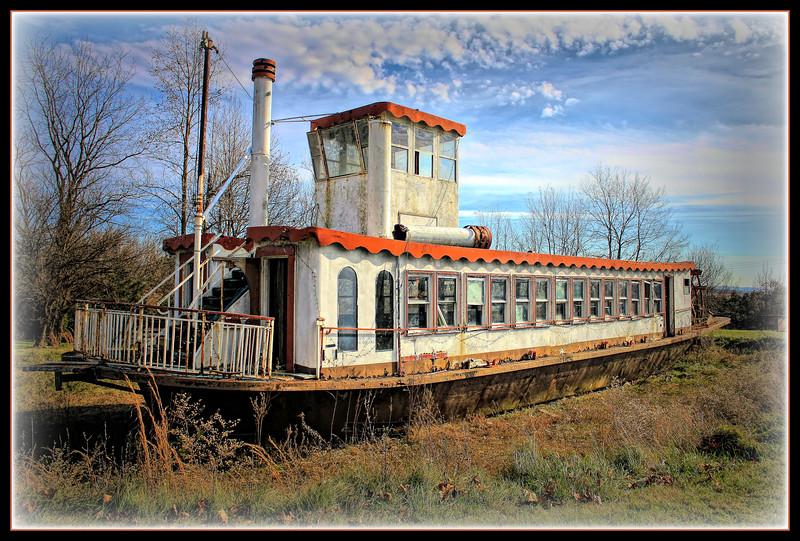 Marooned riverboat ~ Shartlesville, PA