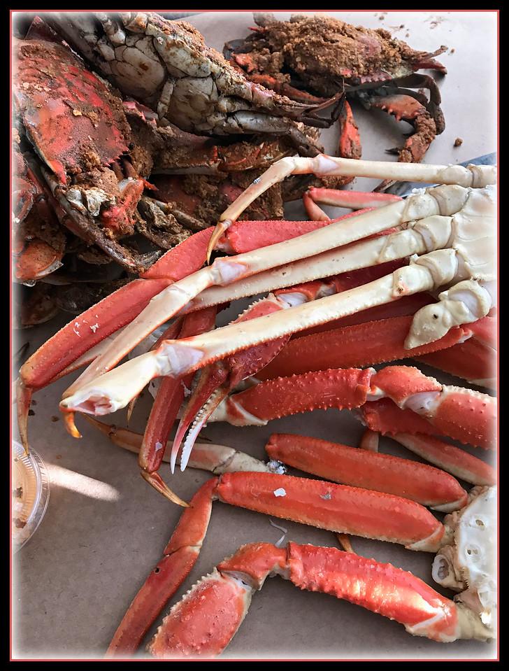 Crabs, Crabs and more Crabs.