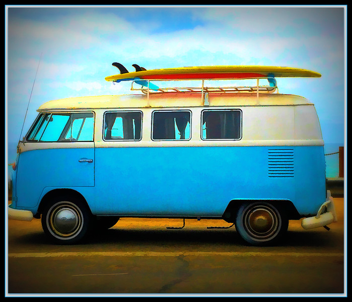 "Fotoeffects Alphabet Challenge ~ ""V"" is for Volkswagen Van (Bus)"