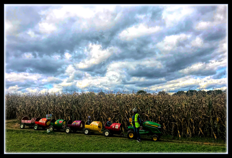 """Fotoeffects Alphabet Challenge ~ """"T"""" is for Tractor Train"""