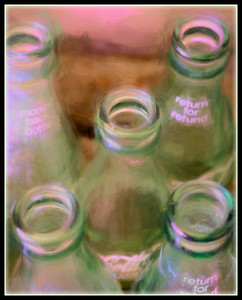 "Fotoeffects Alphabet Challenge ~ ""G"" is for Glass Bottles"
