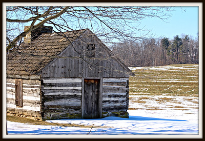 March 6, 2015 Original Byerland Mennonite Mettinghouse.   Built by Charles Christopher and Jacob Beam, elders, cir 1755 on Samuel Boyers land.   This was used as a meetinghouse until 1848 and was entered into the Lancaster Mennonite Conference Historical Society  in 1959.