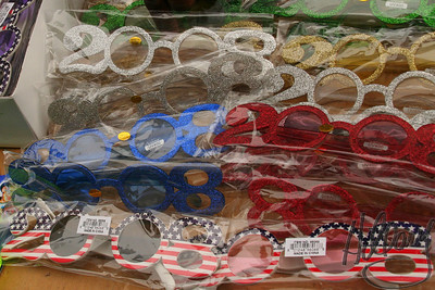 "12-30-07 - We rode the train into NYC today to take in the sights, sounds and smells of the holiday celebrations... There were numerous street shots to take, but this was my photo for the day. These novelty glasses spell out 2008 and the small print on the label says, ""Made in China""... That's the future, right???   Healthy and Happy New Year!! ~Hillary"