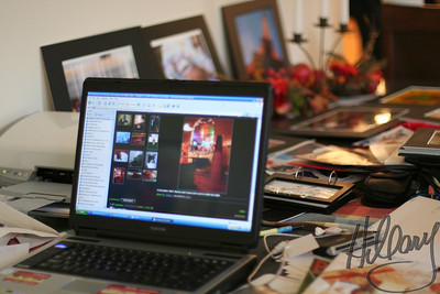 December 5th, 2007 - My mind is as cluttered as this work area. I love seeing all your creativity online, but feel overwhelmed to come up with a photo worth sharing each day. I haven't been posting..Today at least I have one to upload, That is all I have to say about it. :(