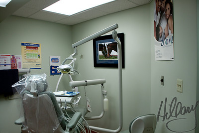 Post 630 12.25.09 Merry Christmas to all of you who celebrate this special holiday. I hope your day was all you were hoping for.   This is a shot of one of the hygiene operatories in the dental office where I work. For the last few weeks I have been printing, matting and framing some of my photos to hang on the walls of our office. We have plugs and holes where the dentist hopes to eventually hang TV's, but so far he is not able to do it. I was offered the opportunity to hang my photography and jumped at the chance. It is very exciting to see them up on the walls and so encouraging to get the nice comments I have gotten so far. I did sell one of my photos ( not shown here as it was already taken) so that was a great start! If you would like to see all of them that I have hung you can see them HERE