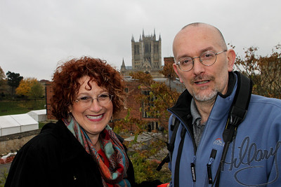 Post 761 11.27.10  Playing Catchup...  Finally, time to process photos from the trip Steve and I took this fall. This picture was taken by my son Andrew of John Bennet and me with his beloved, often photographed, LIncoln Cathedral in the background. It was such a joy to spend the afternoon with John, to talk, walk the familiar streets and do some photography, too, along the way.  I feel so fortunate that I have made friends through the SmugMug dailies over the last 3 years that I have been a member and that I have been able to meet many in person has really been so special! I know I have not been as active the last year, but I keep popping in, clicking thumbs up and comments when I can. Thanks to all of you who check in on me, too, here and there..it is always greatly appreciated!