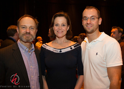 """Post 1033 9.14.12 A SmugMug networking op! Thanks to our fellow daily photographer Matt Pilsner for giving my name to help shoot an Opening Night party at McCarter Theater in Princeton, NJ last night where he works backstage.  Here he is with the stars of the show, Sigourney Weaver and David Hyde Pierce. It was great fun to mingle with all the guests and have the opportunity to meet these warn and very gracious actors! Thank you Matt for thinking of me!!!   I have not posted a daily in a very long time, but my relationship with Matt and others whom I have met over the years of being a part of The Daily Photo community reminds me of what a pivotal place """"The Daily Photo"""" has played in my life...really, in my life. As a leader of the Philadelphia SMUG now I am busy with my photography in that capacity, but I still love the opportunity to post here on the dailies when I can. It is fits and starts, but I do love this group and will post some more of recent photo opportunities I have had.   Have a great week everyone!!!"""