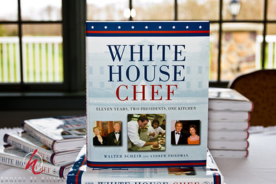 Post 995 3.30.12  This is the book written by the chef who created the dish that I  posted yesterday. He is very entertaining and has wonderful anecdotes from his years as Exectutive Chef of the White House. He was hired by Hillary Clinton and served under all 8 Clinton years and 3 of the Bush years. The dishes that are served all have stories behind them as to why they were created and served. The book is well written and is appealing to everyone as it is full of stories, not just about food! It was a fun event to shoot and lucky for me I will see him again next month at a fundraising event and at that one Steve and I are also invited guests in exchange for my photography so I will get to eat some of his great dishes! Yay!!! Last week I didn't even get a roll to munch on while shooting the event...not that I needed it...but, it would have been nice.   Here's a question for you. If you are hired to shoot an event, are you usually offered food if you are there for 3-4 hours? Just curious.  Thank you all so very much for your time and comments on my recent posts.. I am glad to be back in the groove again for awhile. I don't know how long it will last, but I will make an effort to keep posting, It really does help my photography so much to post images so I am looking and thinking about photography daily even if I don't have time to shoot. I can't believe that in a few days I will have posted 1000 images in this community. Amazing to me! Thank you all for your encouragement and inspiration... I always say SmugMug changed my life and it is participation in this community that has really been key to that change. You are an amazing and wonderful group of people... as well as photographers. I am very proud to still be involved even a little bit with you all.  Have a wonderful weekend!