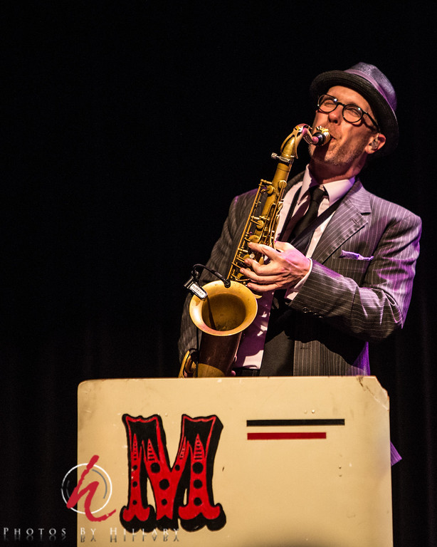 """Daily Post 1171 - 137/365   5/17/2014 - Max on sax!!! The incomparable Max Abrams is a superb saxaphone player and a wonderful fellow. Loved seeing him last night at The Mavericks concert. The concert was the best yet..hard to believe, but The Mavericks rocked the Keswick…The audience rose to their feet and truly rocked the house. It was an incredible night..   Max has his own first CD on sale now and it features Raul Malo in the title song, """"Sway""""… Check it out. It is a mellow CD and totally a pleasure to listen to. I have played it quite a lot at work for my patients and they always ask about it and I'm happy to spread the word about this great musician! <a href=""""http://youtu.be/gFmiIQrvADo"""">SWAY by Max Abrams</a>"""