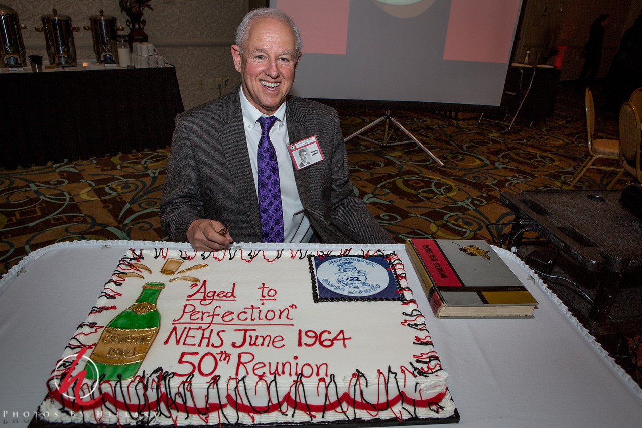 """Daily Post 1157-  123/365   5/3/2014 - Steve's 50th High School Reunion… Can you believe it? The cake really says it all…<br /> <br /> We had a great time and I enjoyed photographing many of his moments last night with fellow classmates..wow, who would believe those people rocking on the dance floor and sharing memories of playing outside in the glory days of the 50s and 60s have been out of high school for FIFTY YEARS! Mind boggleing..it was fun and he is enjoying a brunch this morning to share more memories while I catch up on my Daily Post and home things.  I am giving myself license to post this a little late for yesterday. By the time we got home last night and I uploaded pictures,  then prepared some to print  to  take to the brunch today I totally spaced out on posting my daily. I have not missed a day since 12/31/13 since returning so I hope you will allow me this lapse. I will post to the alphabet challenge later. I'm not sure I have a """"P"""" to post in! ha ha!!! <br /> <br /> Happy Sunday!"""