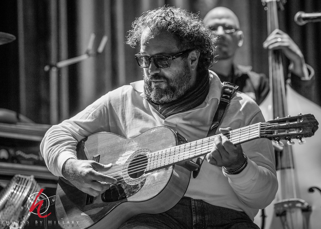 """Daily Post 1159-  125/365   5/5/2014 - Raul Malo / Sound Check before The Mavericks concert at House of Blues in Atlantic City, NJ April 2013  Now I'll start to cull and process another slew of images from another Mavericks show…Be prepared for more Mavericks photos!  Have I gotten any of you besides Elizabeth (Arctangent) interested in hearing their music?  Here is a terrific review of a concert just last week if you are interested: <a href=""""http://www.hollywoodreporter.com/review/mavericks-bring-all-back-home-701254"""">Mavericks</a>  Ha ha..thank you for your comments on my little Alphabet Challenge """"P""""… it was just one of those aha moments when I 'saw' the P…nothing more to add about that!"""