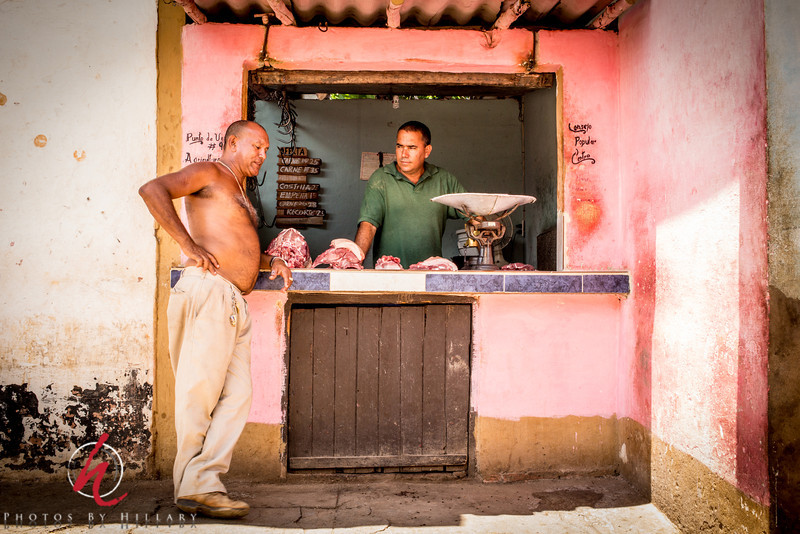 """<font size=""""4""""><b><font color=""""Yellow"""">Daily Post 1105 -  70/365   3/11/2014 The Meat Market (Up the street from yesterday's Edsel)   Still in Trinidad,, Cuba..this was a typical 'market' that we saw. Fascinating to me that meat could be outside in the open like this.   It is almost midnight..I have work in the morning, then we are off for a long weekend to Florida (If tomorrow's change in the weather and delays from a thunderstorm don't stop us) I have no idea if I'll be able to post any dailies while away..if I do you will get a break from my Cuba series!  Thank you a million times over for your support ….I so appreciate every word and kind thought on my images! One of these days when life is a little quieter and I am home I hope to catch up at least a little with seeing your images. I wish there were 'like' buttons like on FB so you could now that I did at least browse and see some of your fabulous images!!!"""