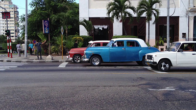 Street corner in Havana, Cuba November 2012. Click arrow to start..this 30 second video.