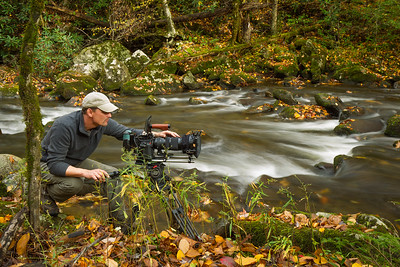 The Great Smoky Mountains in the fall, one of favorite places to film.