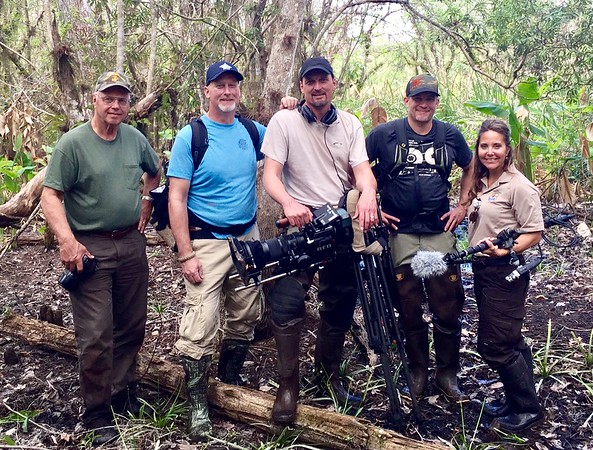 Just part of our production crew for Refuge Wild. Deep in the swamps of South Florida.