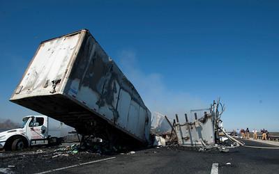 APTOPIX Deadly Interstate Crash