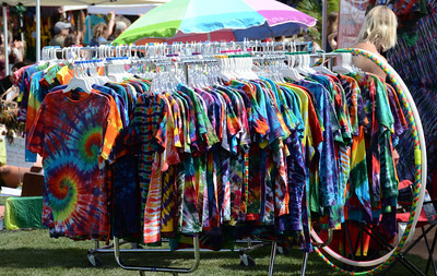 All kinds of clothing on display during the 12 annual Topanga Earth Day 2011 at the Topanga Community House Fair Grounds that runs over the weekend. Topanga CA. April 23,2011.  Photo by Gene Blevins/LA Daily News