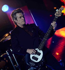 Basses Ross Valory of Journey performs at the Hollywood bowl Tuesday night during their 2011 tour.  Hollywoood CA. Oct 11,2011. Photo by Gene Blevins/LA DailyNews
