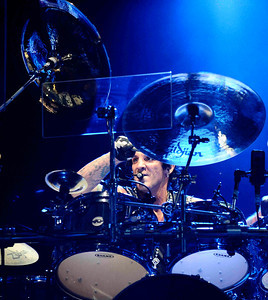 Drummer Deen Castronovo  of Journey performs to a crowd of 18,000 fans at the Hollywood bowl Tuesday night during their 2011 tour.  Hollywoood CA. Oct 11,2011. Photo by Gene Blevins/LA DailyNews