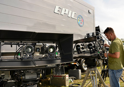 A estimated 2,500 plus media have start to arrive and prep with only 3 days left to cover the last space shuttle launch of Atlantis that is set for July 8th at Kennedy Space Center. FL. July 5,2011. Photo by Gene Blevins/LA Daily News