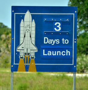A estimated  2,500 plus media have start to arrive with only 3 days left to cover the last space shuttle launch of Atlantis that is set for July 8th at Kennedy Space Center. FL. July 5,2011. Photo by Gene Blevins/LA Daily News