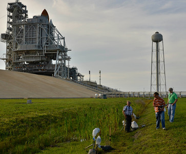 Space shuttle photographers start setting their remotes cameras with only 3 days left to cover the last space shuttle launch of Atlantis that is set for July 8th at Kennedy Space Center. FL. July 5,2011. Photo by Gene Blevins/LA Daily News