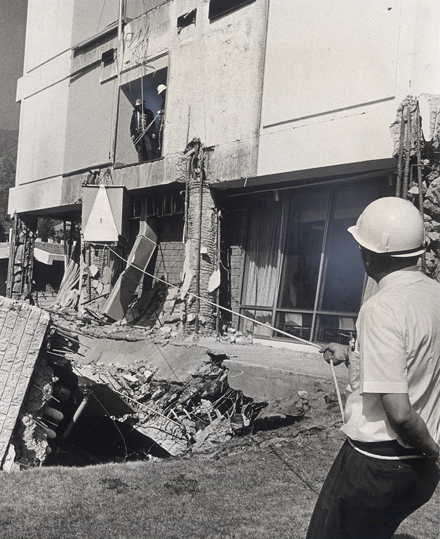 . The 1971 San Fernando earthquake (also known as Sylmar earthquake) struck the San Fernando Valley near Sylmar at 6:00:55 a.m. PST on February 9, 1971, with a magnitude of 6.6.  Workers remove patients belongings and medical equipment a little more than a month after the quake.  DN File Photo  There are various names for this earthquake. Seismologists call it the San Fernando earthquake. USGS \'Sylmar Quake\' or \'Sylmar earthquake\' is the name initially given to the event by local media outlets, because the worst damage was to the Olive View Medical Center, located in Sylmar. Local veterans of \'the Sylmar Quake\' commonly refer to this seismic event as the \'February Ninth\' quake. (Daily News File Photos.)