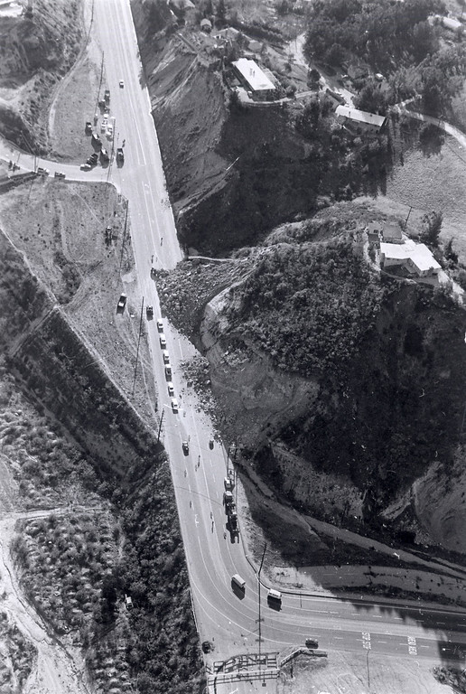 . The 1971 San Fernando earthquake (also known as Sylmar earthquake) struck the San Fernando Valley near Sylmar at 6:00:55 a.m. PST on February 9, 1971, with a magnitude of 6.6.  A hillside collapsed on to Foothill Blvd. near Wentworth Ave. There are various names for this earthquake. Seismologists call it the San Fernando earthquake. USGS \'Sylmar Quake\' or \'Sylmar earthquake\' is the name initially given to the event by local media outlets, because the worst damage was to the Olive View Medical Center, located in Sylmar. Local veterans of \'the Sylmar Quake\' commonly refer to this seismic event as the \'February Ninth\' quake. (Daily News File Photos.)