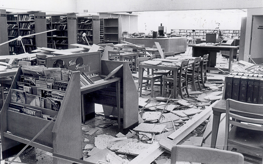 . The 1971 San Fernando earthquake (also known as Sylmar earthquake) struck the San Fernando Valley near Sylmar at 6:00:55 a.m. PST on February 9, 1971, with a magnitude of 6.6.  The Granada Hills branch of the public library as appeared the day after the quake.  Library staff and Bureau of Public Buildings were able to get the library reopened before the end of February.  DN File Photo  There are various names for this earthquake. Seismologists call it the San Fernando earthquake. USGS \'Sylmar Quake\' or \'Sylmar earthquake\' is the name initially given to the event by local media outlets, because the worst damage was to the Olive View Medical Center, located in Sylmar. Local veterans of \'the Sylmar Quake\' commonly refer to this seismic event as the \'February Ninth\' quake. (Daily News File Photos.)