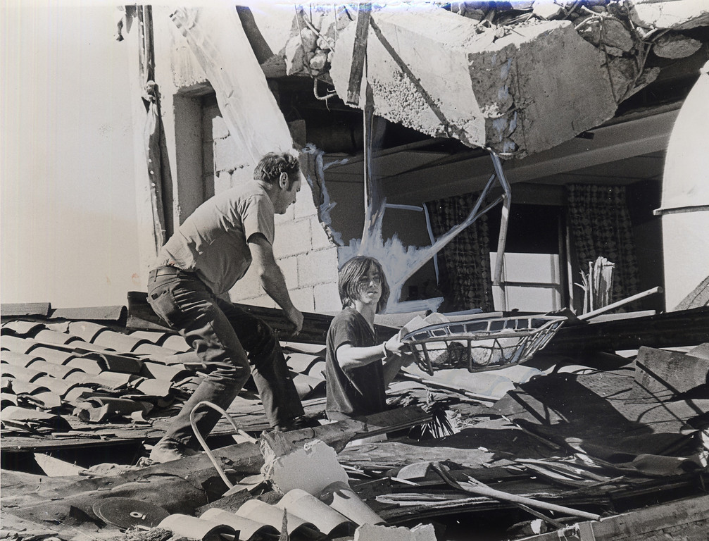 . The 1971 San Fernando earthquake (also known as Sylmar earthquake) struck the San Fernando Valley near Sylmar at 6:00:55 a.m. PST on February 9, 1971, with a magnitude of 6.6.  Rescue efforts at the Vetrans Hospita in Sylmar.  Bill Walker, center, 22, a patient at the hospital was pinned to his bed following the quake.  After he freed himself, he joined the rescue effort. There are various names for this earthquake. Seismologists call it the San Fernando earthquake. USGS \'Sylmar Quake\' or \'Sylmar earthquake\' is the name initially given to the event by local media outlets, because the worst damage was to the Olive View Medical Center, located in Sylmar. Local veterans of \'the Sylmar Quake\' commonly refer to this seismic event as the \'February Ninth\' quake. (Daily News File Photos.)