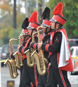 The Arleta High school band performs during the 43rd Annual Pacoima Christmas Parade and Festival. Dec 4 ,2010. Photo by Gene Blevins/LA Daily News