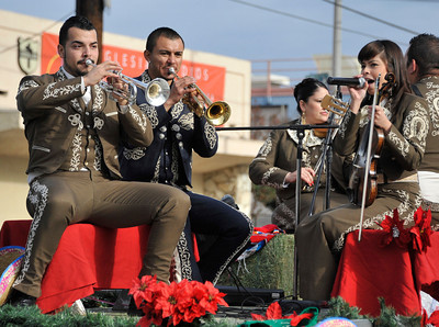 The Mariachi Fuerza perform during the 43rd Annual Pacoima Christmas Parade and Festival. Dec 4 ,2010. Photo by Gene Blevins/LA Daily News