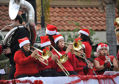 All kinds of bands play christmas music during the 43rd Annual Pacoima Christmas Parade and Festival. Dec 4 ,2010. Photo by Gene Blevins/LA Daily News