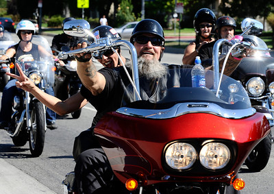 Over 500 plus motorcycles took part during the 4th Annual West Valley Memorial Motorcycle Ride benefiting the Randal D. Simmons Outreach Foundation, Los Angeles Police Memorial Foundation and the West Valley B.O.O.S.T.E.R.S. Reseda CA. Aug 27,2011 photo by Gene Blevins/LA DailyNews