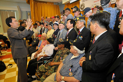 The 60th Anniversary of the Korean Conflict was observed at the Sepulveda Ambulatory Care Center, located in the VA Hospital Campus in North Hills. The event , sponsored by the Korean Minister Association in the San FErnando Valley, and the VA Greater Los Angeles Healthcare System, featured Korean flavored foods and entertainment. North Hills, CA 06/23/2010 (John McCoy/Staff Photographer)