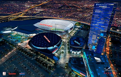 New renderings of the proposed Farmers Field in downtown Los Angeles were released Nov. 15, 2011.