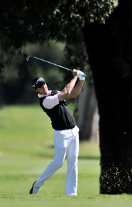 Aaron Baddeley on the 4th fairway during the final round of the Northern Trust Open at Riviera Country Club in Pacific Palisades , CA. 2-20-2011. (John McCoy/staff photographer)
