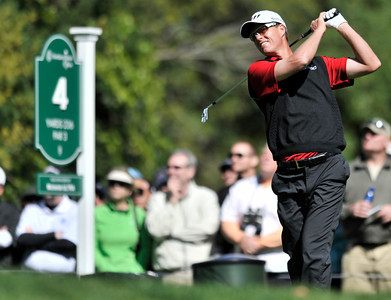 John Senden on the 4th tee during the final round of the Northern Trust Open at Riviera Country Club in Pacific Palisades , CA. 2-20-2011. (John McCoy/staff photographer)