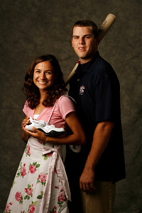 Chatsworth High School baseball player Mike Moustakas and Simi Valley High School runner Anna Sperry.