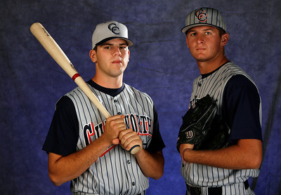 Chatsworth High School baseball players Mike Moustakas and Trent Jones.