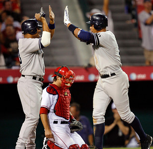 Yankees Angels Baseball