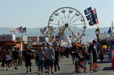 Fair goers enjoy the opening day of the Antelope Valley Fair on Friday. (Jeff Goldwater/Special to the Daily News)