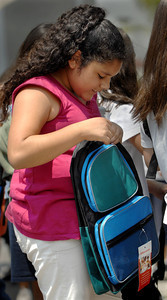 backpacks donated to children by Office Depot Foundation