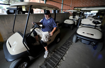 Rick Solomon is in charge of the golf carts. The City of Los Angeles just purchased new golf carts for several courses including the Encino Balboa Golf Complex. Encino, CA 6-24-2011. (John McCoy/Staff Photographer)